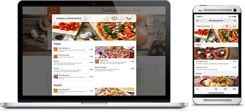 Beställningsappen för restaurang